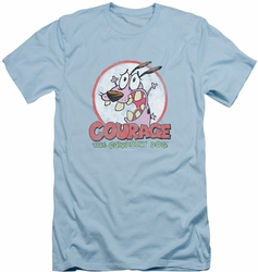 Courage The Cowardly Dog slim-fit t-shirt Vintage Courage mens light blue