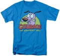 Courage The Cowardly Dog t-shirt Colorful Courage mens turquoise