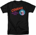 Courage The Cowardly Dog t-shirt Courage Logo mens black
