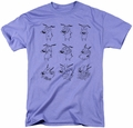 Courage The Cowardly Dog t-shirt Courage Poses mens lavender