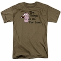 Courage the Cowardly Dog t-shirt For Love mens safari green