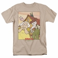 Courage The Cowardly Dog t-shirt Gothic Courage mens sand