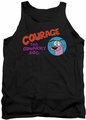 Courage The Cowardly Dog tank top Courage Logo mens black