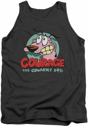Courage The Cowardly Dog tank top Courage mens charcoal