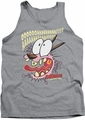 Courage The Cowardly Dog tank top Scaredy Dog mens heather