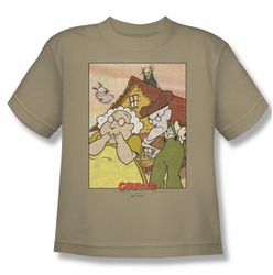 Courage The Cowardly Dog youth teen t-shirt Gothic Courage sand