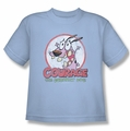Courage The Cowardly Dog youth teen t-shirt Vintage Courage light blue