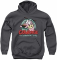 Courage The Cowardly Dog youth teen hoodie Courage charcoal