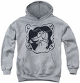 Courage The Cowardly Dog youth teen hoodie Ghost Frame athletic heather