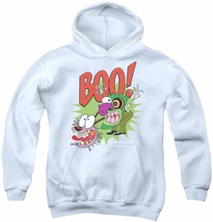 Courage The Cowardly Dog youth teen hoodie Stupid Dog white