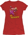 Cow And Chicken juniors t-shirt Al Rescate red
