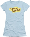 Cow And Chicken juniors t-shirt Cow Chicken Logo light blue