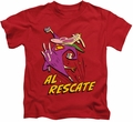 Cow & Chicken kids t-shirt Al Rescate red