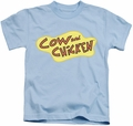 Cow & Chicken kids t-shirt Cow Chicken Logo light blue