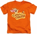 Cow & Chicken kids t-shirt Logo orange