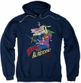 Cow & Chicken pull-over hoodie Super Cow adult navy
