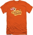 Cow & Chicken slim-fit t-shirt Logo mens orange