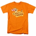 Cow & Chicken t-shirt Logo mens orange