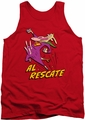 Cow & Chicken tank top Al Rescate mens red