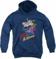 Cow & Chicken youth teen hoodie Super Cow navy