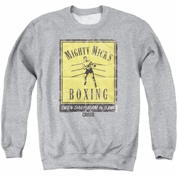 Creed adult crewneck sweatshirt Micks Poster athletic heather