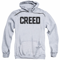 Creed pull-over hoodie Cracked Logo adult athletic heather