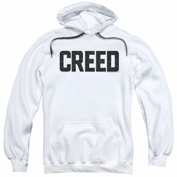 Creed pull-over hoodie Cracked Logo adult white