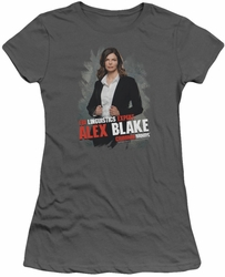 Criminal Minds juniors t-shirt Alex Blake charcoal
