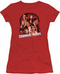 Criminal Minds juniors t-shirt Brain Trust red