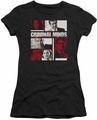 Criminal Minds juniors t-shirt Character Boxes black