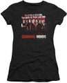 Criminal Minds juniors t-shirt Think Like One black