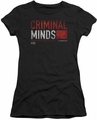 Criminal Minds juniors t-shirt Title Card black