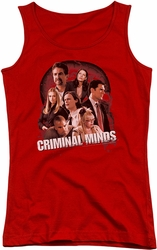 Criminal Minds juniors tank top Brain Trust red