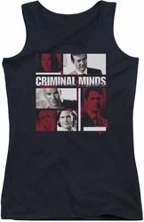 Criminal Minds juniors tank top Character Boxes black