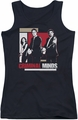 Criminal Minds juniors tank top Guns Drawn black