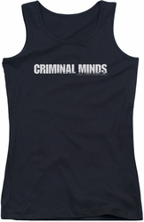 Criminal Minds juniors tank top Logo black