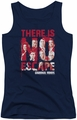 Criminal Minds juniors tank top No Escape navy