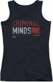 Criminal Minds juniors tank top Title Card black
