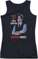 Criminal Minds juniors tank top Trust Me black
