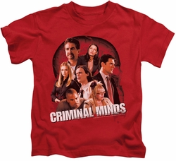 Criminal Minds kids t-shirt Brain Trust red