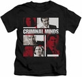 Criminal Minds kids t-shirt Character Boxes black