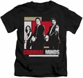 Criminal Minds kids t-shirt Guns Drawn black