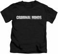 Criminal Minds kids t-shirt Logo black