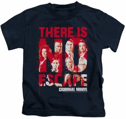 Criminal Minds kids t-shirt No Escape navy