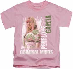 Criminal Minds kids t-shirt Penelope pink