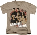 Criminal Minds kids t-shirt Solution Lies Within sand