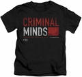 Criminal Minds kids t-shirt Title Card black