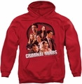 Criminal Minds pull-over hoodie Brain Trust adult red