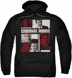 Criminal Minds pull-over hoodie Character Boxes adult black