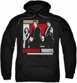 Criminal Minds pull-over hoodie Guns Drawn adult black